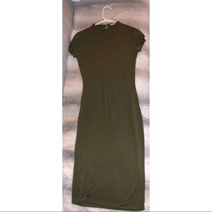 Army green t-shirt dress